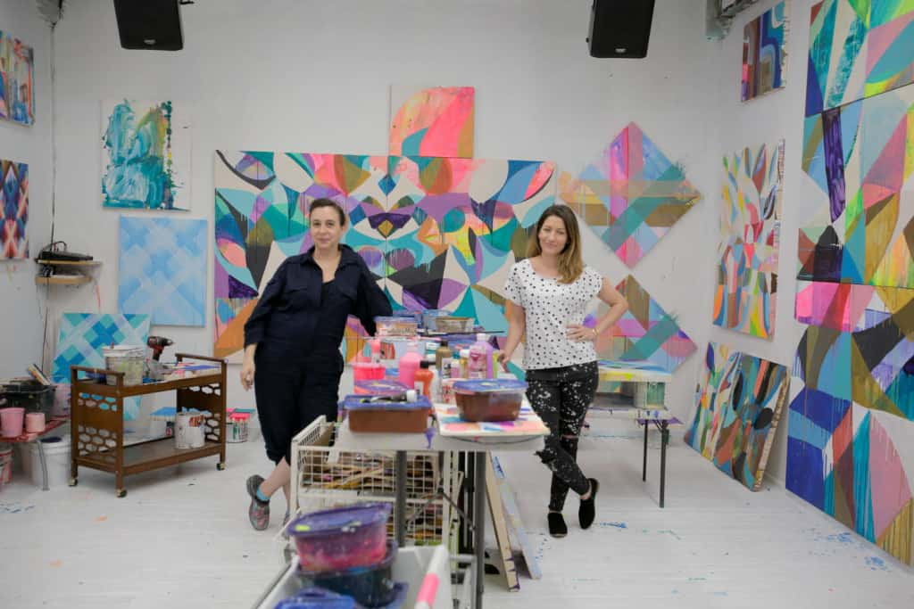 Swoon with Alexandra Henry in her studio after the Street Heroines interview