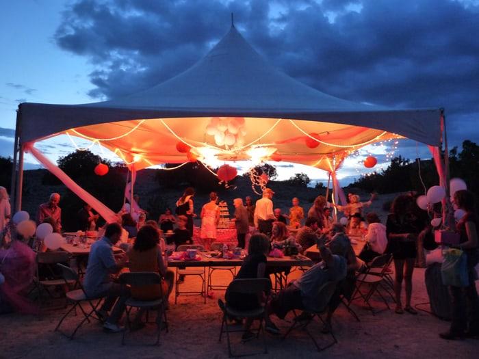 Tent night sky